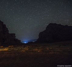 Stars in Wadi Rum