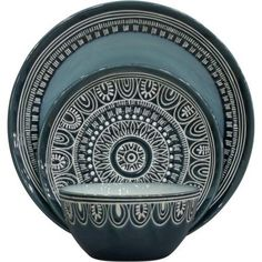 Better Homes and Gardens Teal Medallion 12-Piece Set