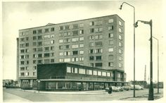 Antwerpen-Kiel - Residentie Frans Schoofs en winkelcentrum Multi Story Building, Frans, 1960s, Belgium, Kiel, Sixties Fashion