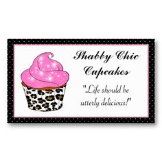 19 best cake decorating business cards images on pinterest cake shabby chic cupcake business cards reheart Gallery