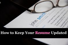 How to Keep Your #Resume Updated | Corporette