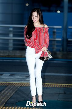 Girls' Generation Tiffany fashion at Incheon Airport [170421]