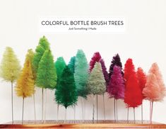 25 DIY HOLIDAY DECOR PROJECTS – Colorful Bottle Brush Trees