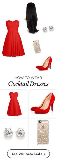 """""""happy holidays #2"""" by katlove280 on Polyvore featuring Christian Louboutin and Casetify"""