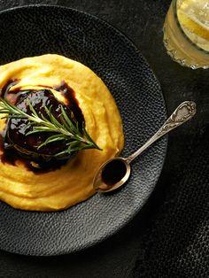 Bruk z polędwicy wołowej podany na purée z marchwi #lidl #przepis #pascal #poledwica #wolowina
