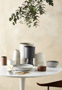 Terracotta Canister with White Glaze by Lightly Australia. Designed by Cindy-Lee Davis as part of Lightly's 2016 Handcrafted Terracotta Ceramics Range. Dining Ware, Dining Room, Pick And Mix, The Design Files, Interior Design Studio, Warm Colors, Decorative Objects, Ceramic Pottery, Decoration