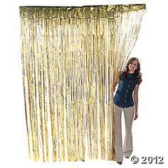 Metallic Gold Fringe Curtains