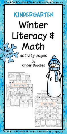 Over 80 NO-PREP literacy and math pages for kindergarten. Perfect for independent work, morning work, homework, etc.