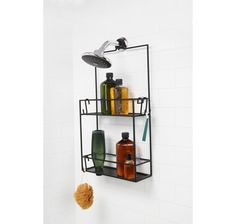 Umbra Cubiko Shower Caddy Black at Lowe's. No one wants their shower caddy slipping down, moving around, or running out of storage space. With this smart and stylish shower caddy from Umbra, Bathroom Storage, Small Bathroom, Washroom, Shower Storage, Tranquil Bathroom, Rental Bathroom, Shower Shelves, Design Bathroom, Porta Shampoo