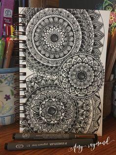 #mandala by Amy Raymond 2/12/17.  #sketch #pigma #bw #doodle #inkart #mixedmedia #art #artismytherapist #zen #tattoo