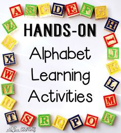 We incorporate alphabet learning activities into our every day. Alphabet learning is the most important pre-literacy skill to introduce to preschoolers.