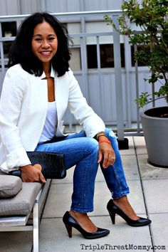 How to Wear White in the Fall | TripleThreatMommy.com