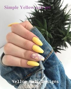 23 Great Yellow Nail Art Designs 2019 naildesigns nailart , art designs great nail nailart naildesigns yellow, NailDesing, Nail Desing is part of Cute White nails Ongles - Cute White nails Ongles Yellow Nails Design, Yellow Nail Art, Yellow Nail Polish, Cute Nails, Pretty Nails, My Nails, Daisy Nails, Cute Simple Nails, Summer Acrylic Nails