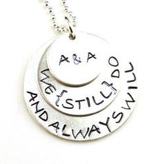 We Still Do Personalized Hand Stamped Necklace