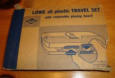 Vintage 1945 Lowe all Plastic Travel Chess Set Complete - Estate - Free Shipping #ESLoweCoInc