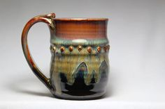 12oz stoneware pottery mug pottery coffee cup tea by DrostePottery