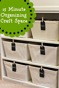 15 minute organizing Craft Space - Organize and Decorate Everything #31days #15minuteorganizing