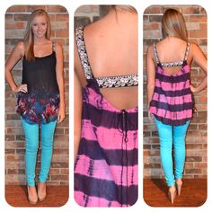Free People top and Aqua colored denim are available in store!