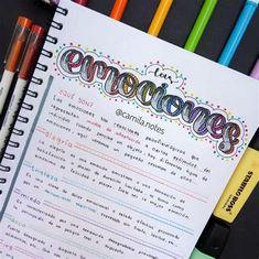 Pretty Notes, Good Notes, Bullet Journal Lettering Ideas, Bullet Journal Inspiration, Notes Design, Desktop Organization, Mood Tracker, School Notes, School Hacks
