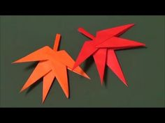 折り紙 「紅葉」 origami autumn leaf - YouTube
