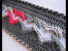Sweetheart Scarf - Valentine Crochet Scarf - Pattern Presentation - YouTube