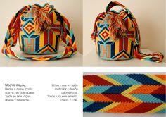 R&G Trendy: Bolsos Wayúu - Wayúu Bags Tapestry Bag, Tapestry Crochet, Crochet Purses, Crochet Bags, Bag Making, Lana, Drawstring Backpack, Bucket Bag, Diy And Crafts