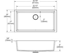 "Elkay Quartz Luxe 35-7/8"" x 19"" x 9"" Single Bowl Undermount Kitchen Sink with Perfect Drain Apron Sink Kitchen, Composite Sinks, Acrylic Resin, Quartz, Pepper, Interior, Indoor, Interiors"