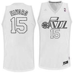 ... Navy - Icon Edition Utah Jazz Adidas NBA Derrick Favors 15 Christmas Swingman  Jersey. dbbab972e
