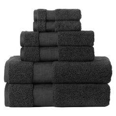 simple black towels