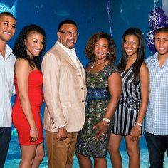 Judge Mathis with wife and children