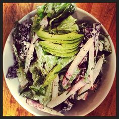 Coastal Farms' little gems salad, fines herbes, avocado, buttermilk dressing #HuckTND @coastalfarms Photo by huckcafe