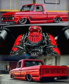 OTG Boss is the reddest and worst Ford .- OTG Boss is the reddest and worst Ford ever built – Cars – # - Classic Pickup Trucks, Ford Classic Cars, Lowered Trucks, Lifted Trucks, Lifted Ford, Cool Trucks, Big Trucks, Custom Trucks, Custom Cars