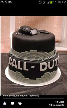 COD, typical teenage boy cake!