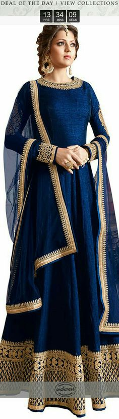 Love this blue anarkali The floor-length anarkali, an Indian translation of the voluminous gown dress.Complimenting and free-streaming, there is something about this time-respected most loved outfit. Anarkali Dress, Pakistani Dresses, Indian Dresses, Indian Outfits, Gown Dress, Indian Anarkali, Lehenga, Indian Attire, Indian Ethnic Wear