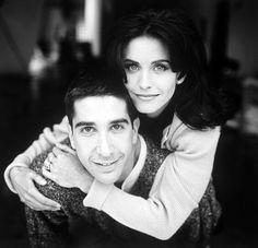 Courtney Cox and David Schwimmer on Friends series