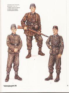 Handschar Division, Balkans, 1944-45:  1: Waffen-Untersturmführer;  2: Waffen-Gebirgsjäger;  1: Waffen-Hauptsturmführer