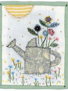 sew on material then glue to lampshade