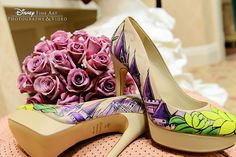 Fairy tale inspired heels bring a little magic to your wedding day