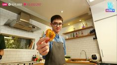 DO during his broadcast on VAPP 'Cooking with Kyungsoo'