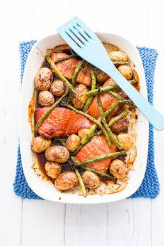 Roasted honey and soy salmon