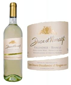 """Duca d'Amalfi Pinot Grigio with flavors of ripe pear and peach coupled with a breath of lemon zest in the nose.  """"patio pounder"""""""