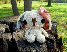 Lulu the Amigurumi Bunny  Ivory by WyandotteWears on Etsy, $16.50
