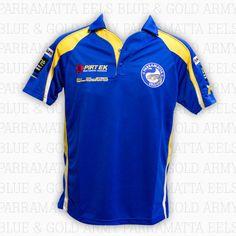 2013 Parramatta Eels - Media Polo Blue Gold, My Boys, Polo Shirt, Mens Tops, Shirts, Fashion, Moda, Polos, Fashion Styles