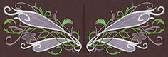Bring ethereal magic to anything from a fancy fantasy gown to everyday shirts and jackets with this magical, natural dragonfly wing pair design. Dimensions listed are for one wing. Stitch count listed is for both wings.
