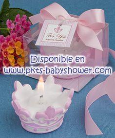 Recuerdos para Baby Shower - Tiara Rosa - Disponible en www.pkts-babyshower.com