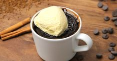 Mennyei Mikrós kávés süti recept vanília fagylalttal recept! Muffin, Ice Cream, Sweets, Eat, Tableware, Food, No Churn Ice Cream, Sweet Pastries, Muffins