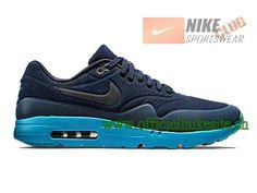 Nike Air Max 1 Ultra Moire - Chaussure Nike Sportswear Pas Cher Pour Homme Noir/Bleu 705297-400