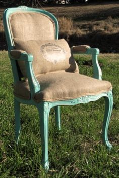 great Louis xv style chair. Loving the turquoise!