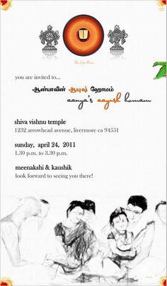 Aanyau0027s Aayush Homam Invite By Ōviya Design Studio