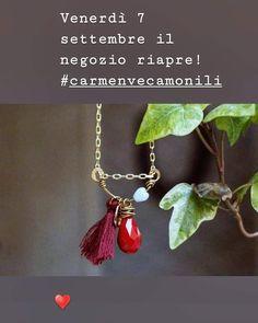 Carmen Veca Monili: Il negozio riapre il 7 settembre Pendant Necklace, Jewelry, Jewels, Schmuck, Jewerly, Jewelery, Jewlery, Drop Necklace, Fine Jewelry